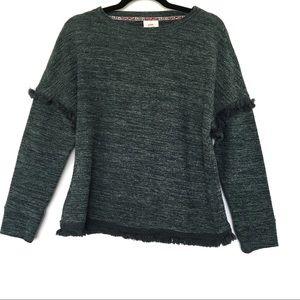 Knox Rose Fringe Long Sleeve Soft Sweater Boho